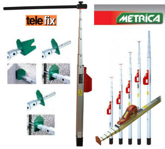 Telefix-Telescopic Measuring Poles-Metrica GSR Laser Tools